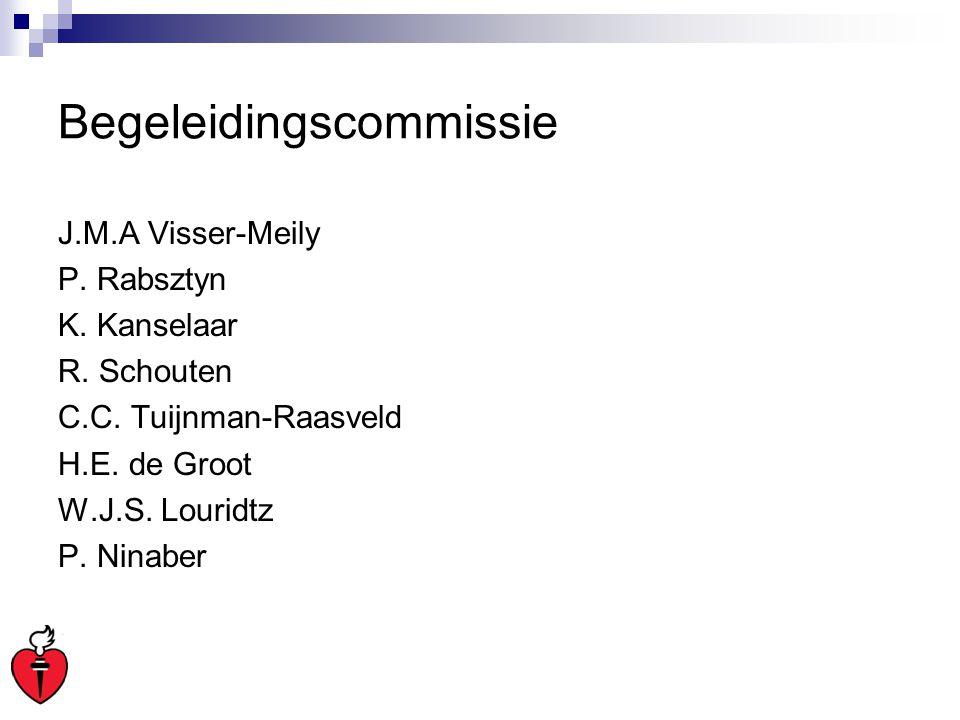 Begeleidingscommissie J.M.A Visser-Meily P. Rabsztyn K. Kanselaar R. Schouten C.C. Tuijnman-Raasveld H.E. de Groot W.J.S. Louridtz P. Ninaber