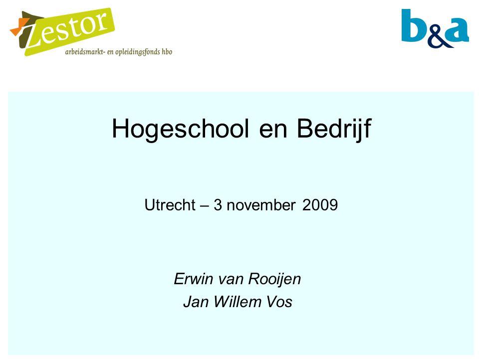 Hogeschool en Bedrijf Utrecht – 3 november 2009 Erwin van Rooijen Jan Willem Vos