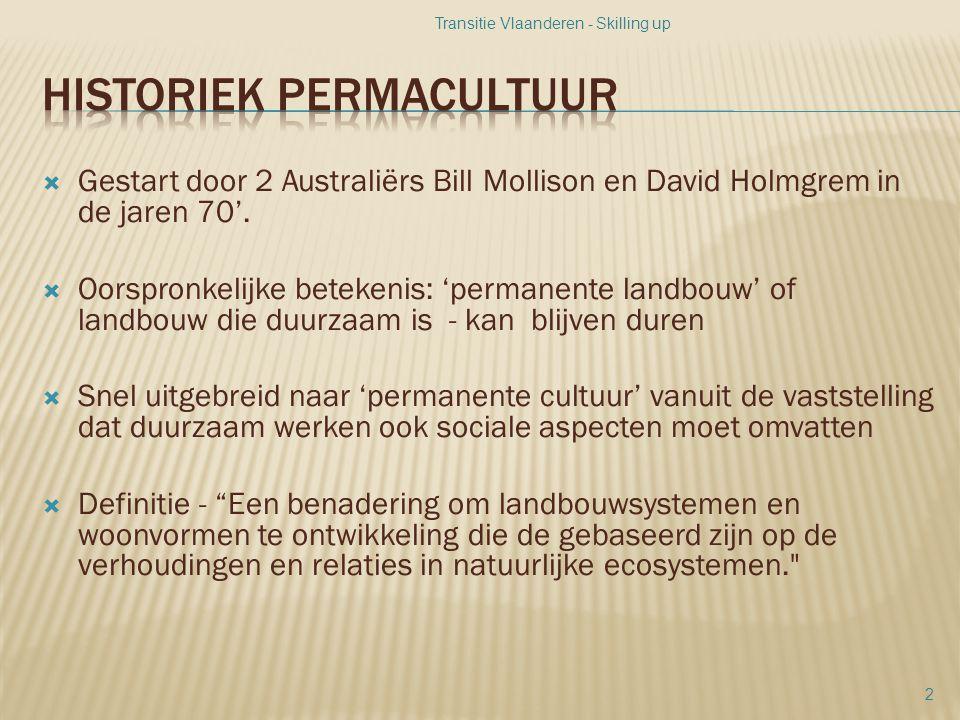  Gestart door 2 Australiërs Bill Mollison en David Holmgrem in de jaren 70'.