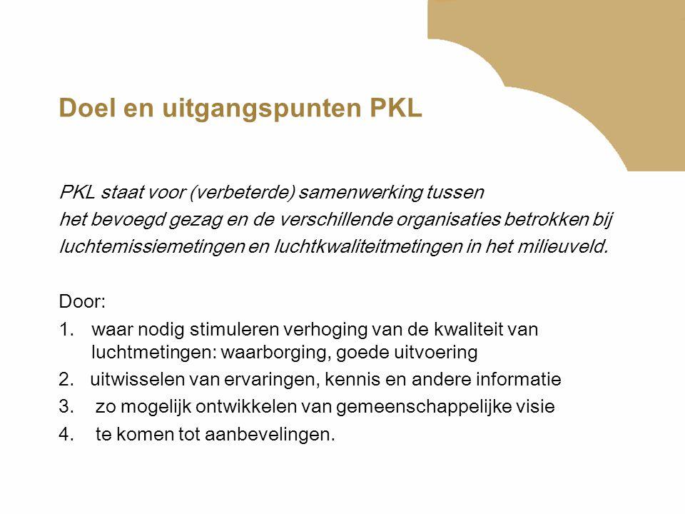 Doel en uitgangspunten PKL PKL staat voor (verbeterde) samenwerking tussen het bevoegd gezag en de verschillende organisaties betrokken bij luchtemiss
