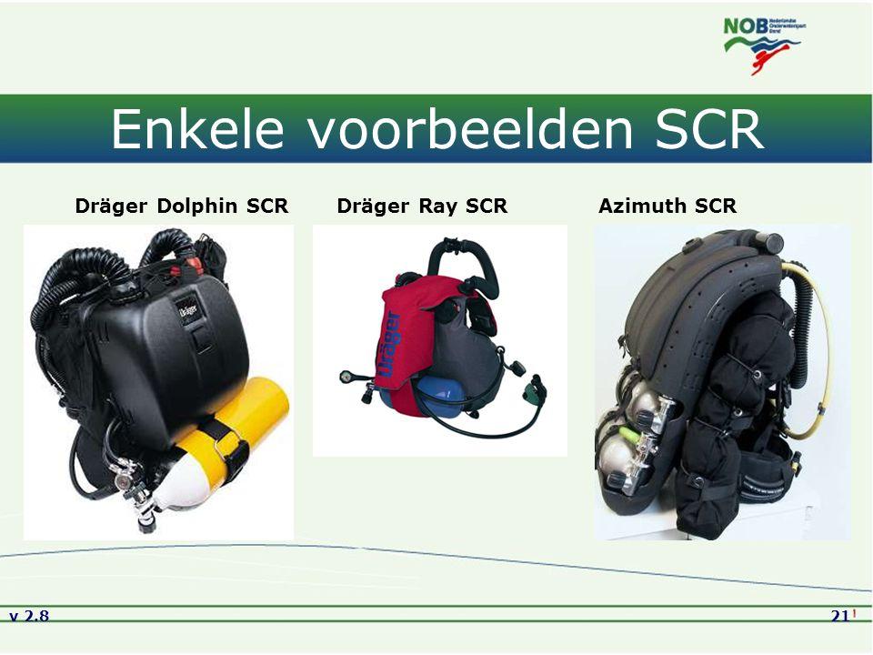 v 2.821 Enkele voorbeelden SCR Dräger Dolphin SCRDräger Ray SCRAzimuth SCR