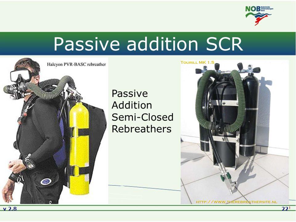 v 2.822 Passive addition SCR Passive Addition Semi-Closed Rebreathers