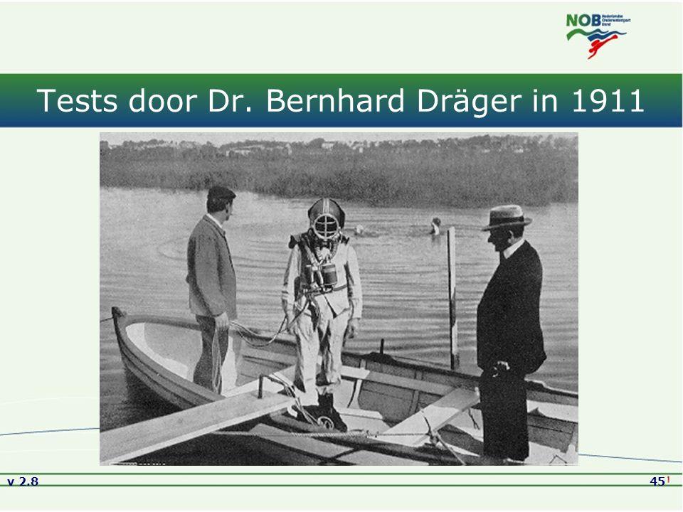 v 2.845 Tests door Dr. Bernhard Dräger in 1911