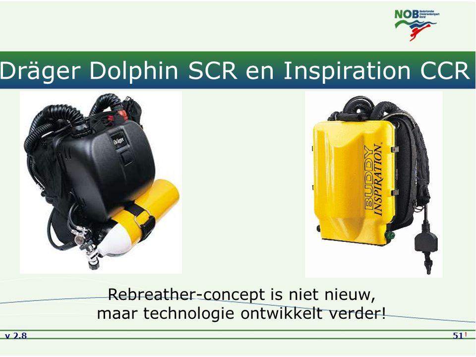 v 2.851 Dräger Dolphin SCR en Inspiration CCR Rebreather-concept is niet nieuw, maar technologie ontwikkelt verder!