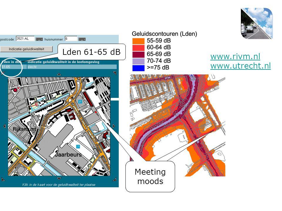 Meeting Moods Meeting moods Lden 61-65 dB www.rivm.nl www.utrecht.nl