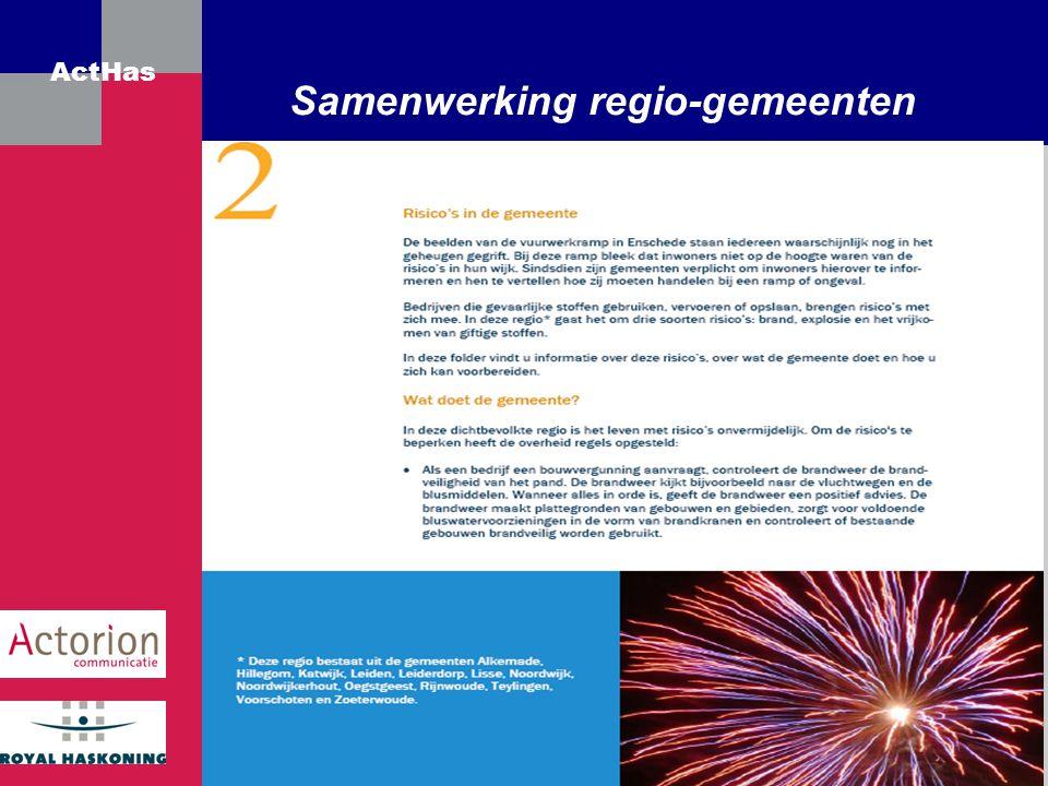 ActHas Samenwerking regio-gemeenten
