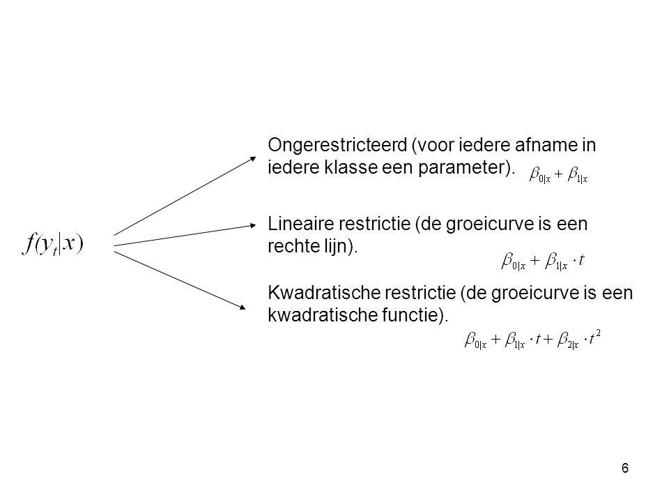 6 Ongerestricteerd (voor iedere afname in iedere klasse een parameter).
