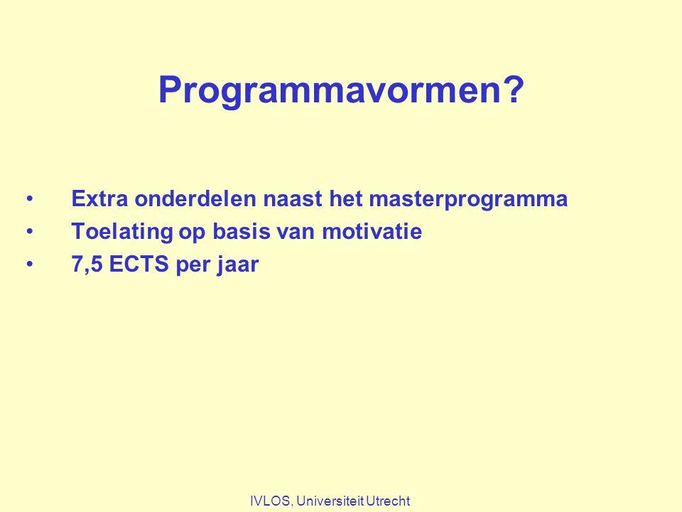 Programmavormen.