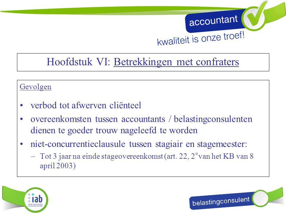 Gevolgen verbod tot afwerven cliënteel overeenkomsten tussen accountants / belastingconsulenten dienen te goeder trouw nageleefd te worden niet-concur