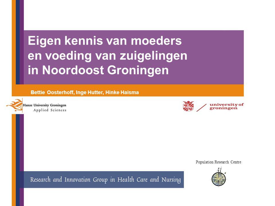 12-7- 12 Sample 1: Friesland: midden/hoog SES Sample 2: Noordoost Groningen: laag SES Inclusiecriteria: * Intentie borstvoeding * Primipare moeders * A terme * Fysiek, mentaal, cognitief capabel * Geen contra-indicatie