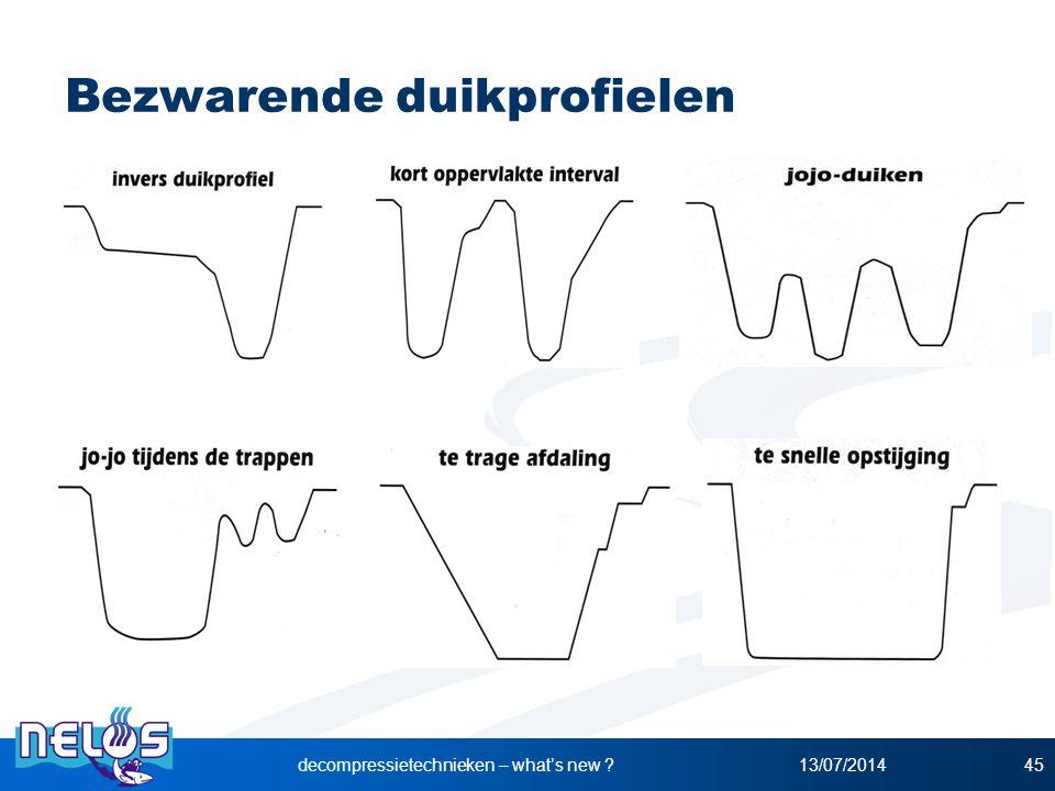 Bezwarende duikprofielen 13/07/2014decompressietechnieken – what's new ?45