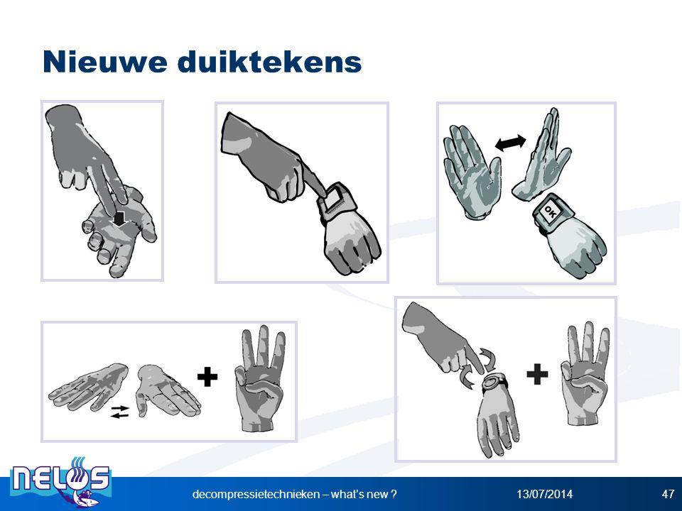 Nieuwe duiktekens 13/07/2014decompressietechnieken – what's new ?47