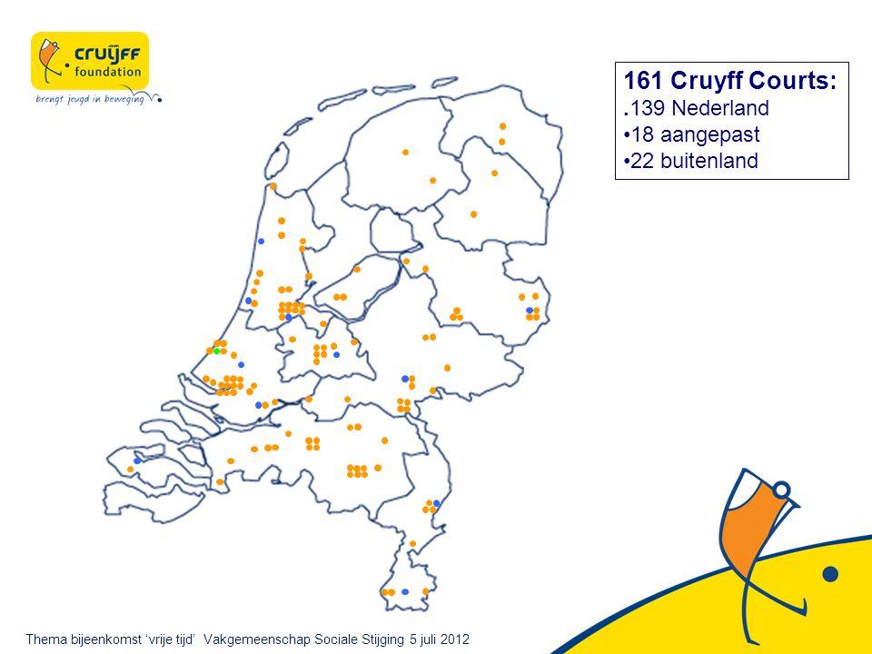 161 Cruyff Courts:.139 Nederland 18 aangepast 22 buitenland Thema bijeenkomst 'vrije tijd' Vakgemeenschap Sociale Stijging 5 juli 2012