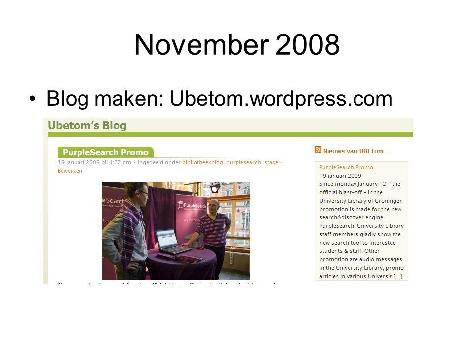 November 2008 Spelen met social book/networking: FaceBook,Lib.thing, Flickr, Del.ici.ous etc.