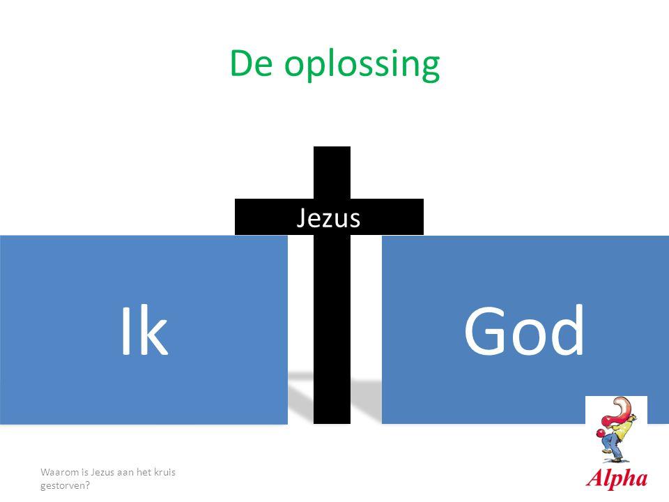 De oplossing Waarom is Jezus aan het kruis gestorven? God Ik