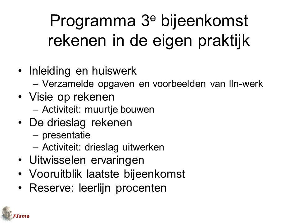 Uitgangspunt 2 Het model Drieslag Rekenen is uitgangspunt voor rekenbeleid in het (v)mbo.