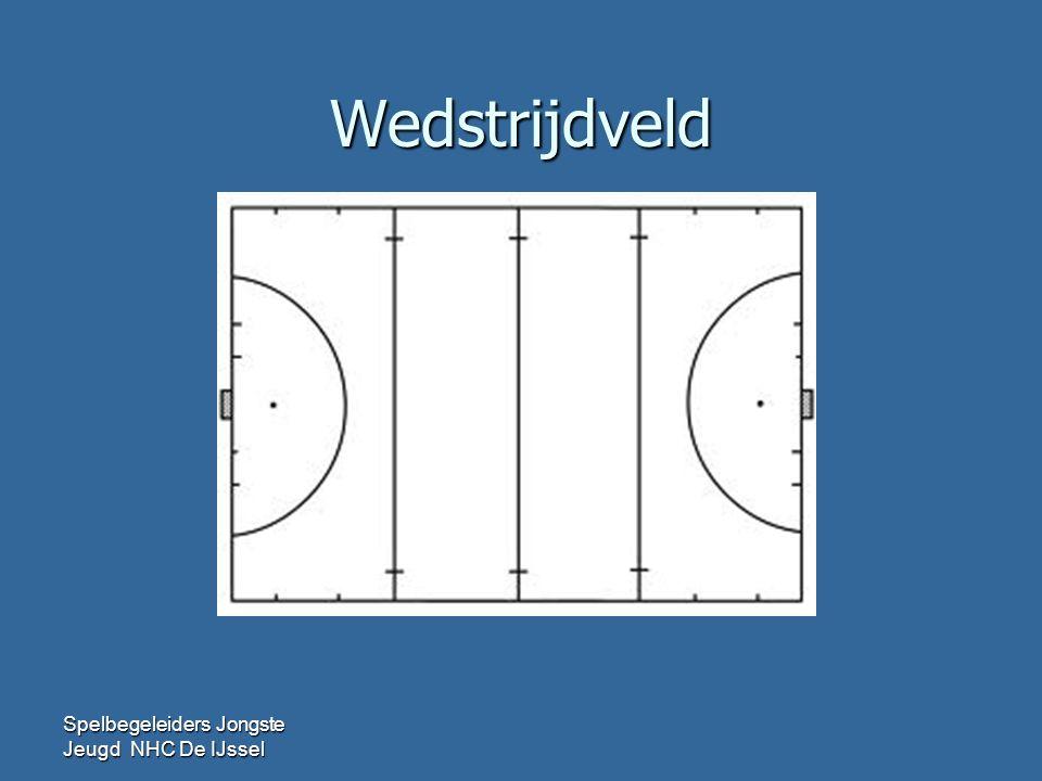 Wedstrijdveld 3-tal ( F-jeugd tot maart) Spelbegeleiders Jongste Jeugd NHC De IJssel 5 mtr Doelgebied 2 goals d.m.v.