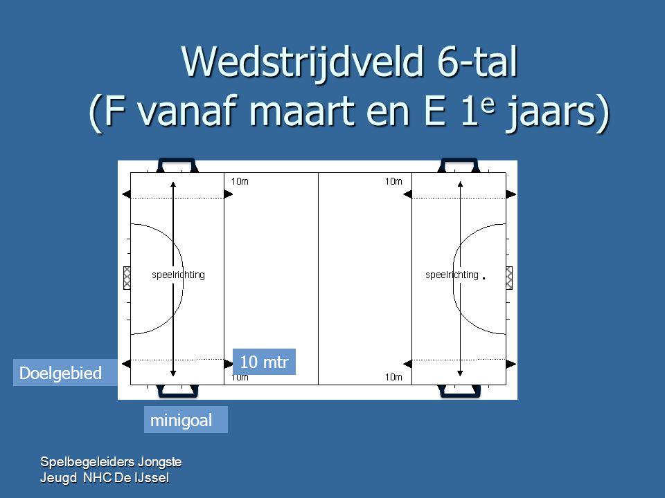 Wedstrijdveld 8-tal (E 2 e jaars) Spelbegeleiders Jongste Jeugd NHC De IJssel minigoal Doelgebied