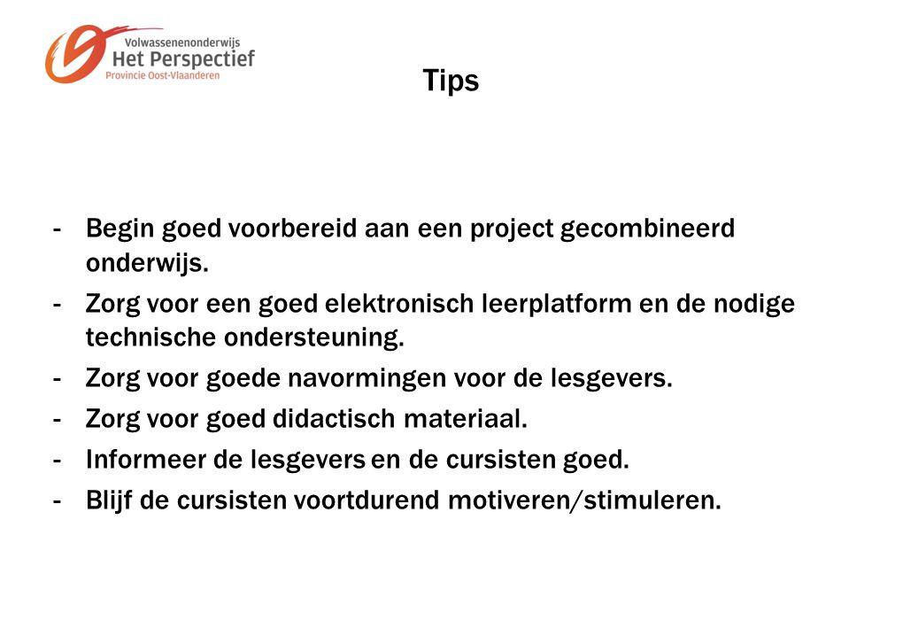 Tips -Begin goed voorbereid aan een project gecombineerd onderwijs.