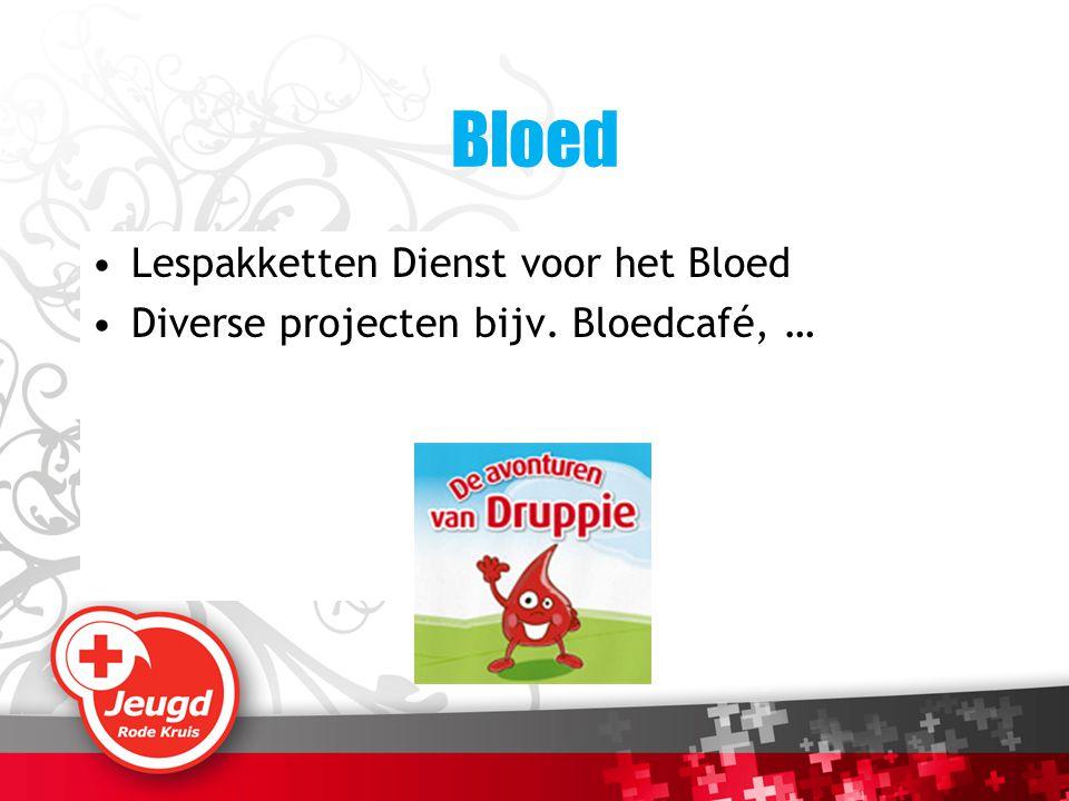 Bloed Lespakketten Dienst voor het Bloed Diverse projecten bijv. Bloedcafé, …