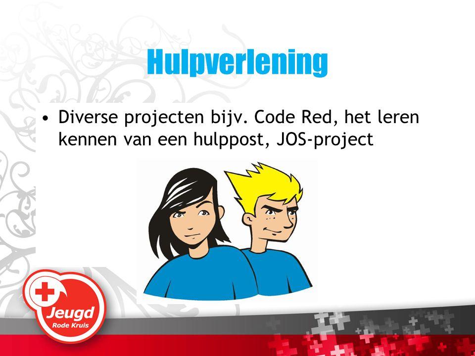 Hulpverlening Diverse projecten bijv. Code Red, het leren kennen van een hulppost, JOS-project
