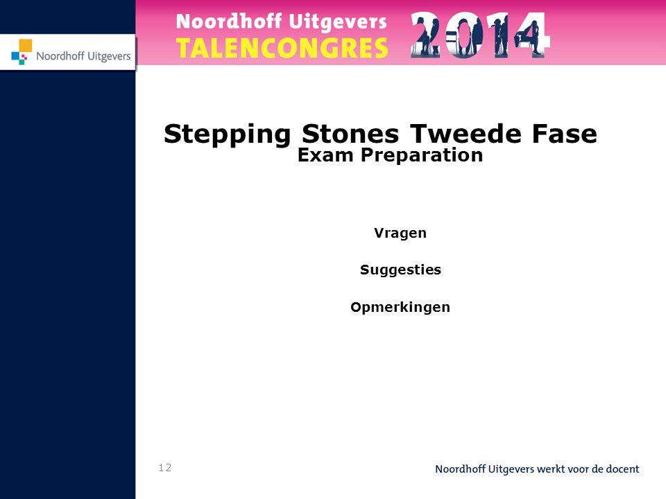 12 Stepping Stones Tweede Fase Exam Preparation Vragen Suggesties Opmerkingen