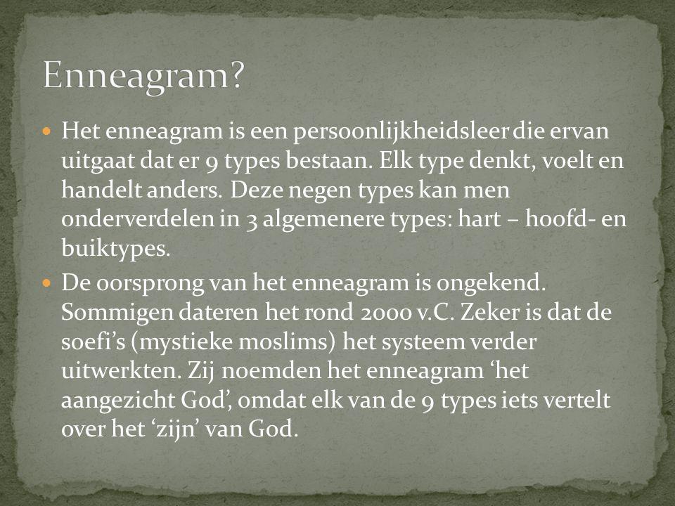Het enneagram is een persoonlijkheidsleer die ervan uitgaat dat er 9 types bestaan.