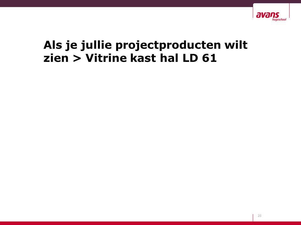 Als je jullie projectproducten wilt zien > Vitrine kast hal LD 61 28