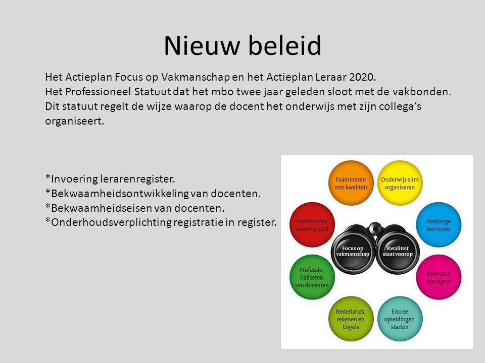 Onderwijs coöperatie:Bevoegd en bekwaam Terug naar de kern van het beroep.