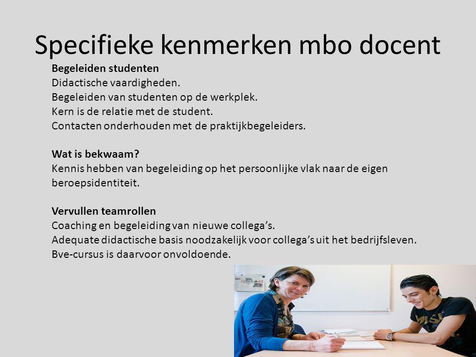 Professionalisering Actuele kennis van de beroepspraktijk Bedrijfsstage.