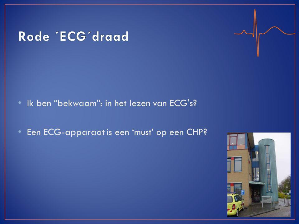 """Ik ben """"bekwaam"""": in het lezen van ECG's? Een ECG-apparaat is een 'must' op een CHP?"""