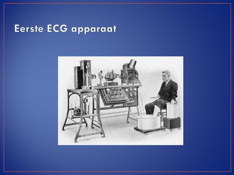 Een ECG registreert -gram- de door hartcellen -cardio- gegenereerde elektriciteit -electro- aan het lichaamsoppervlak