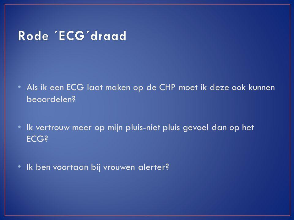 Als ik een ECG laat maken op de CHP moet ik deze ook kunnen beoordelen? Ik vertrouw meer op mijn pluis-niet pluis gevoel dan op het ECG? Ik ben voorta