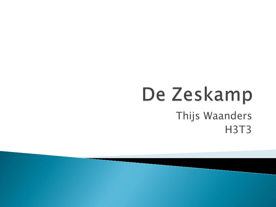 Thijs Waanders H3T3