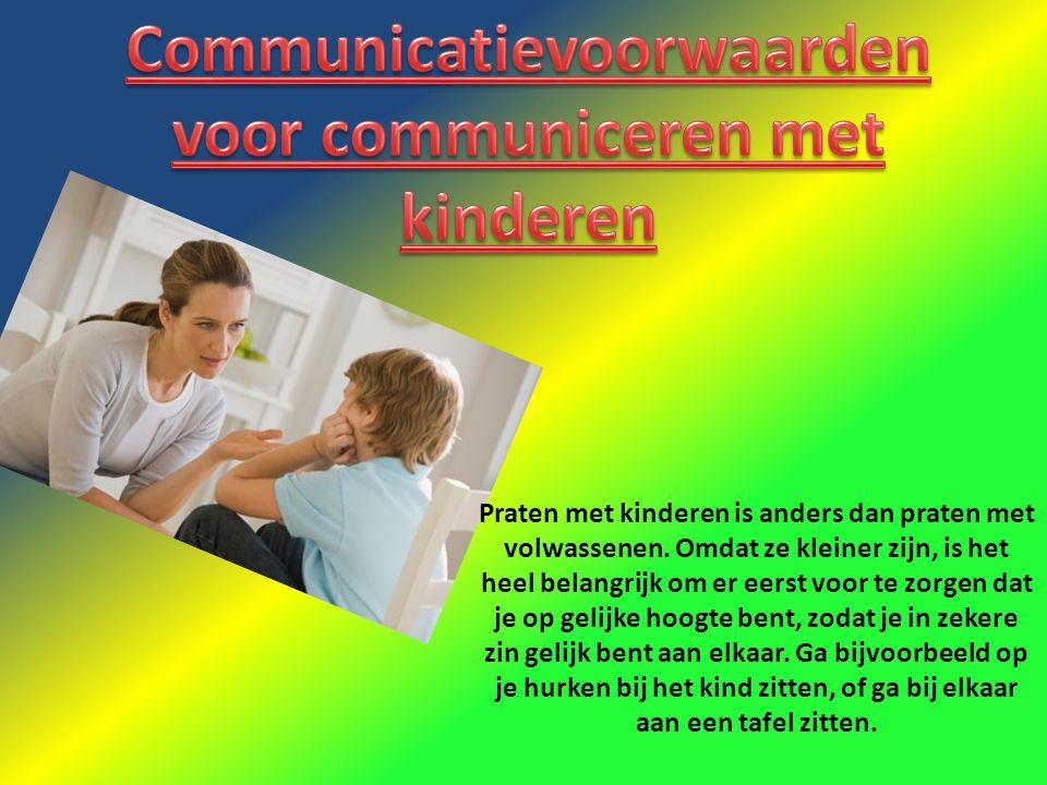 Praten met kinderen is anders dan praten met volwassenen. Omdat ze kleiner zijn, is het heel belangrijk om er eerst voor te zorgen dat je op gelijke h