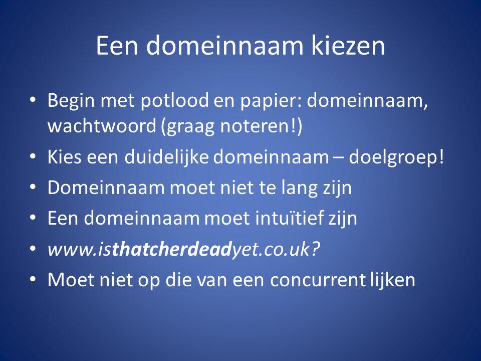 We beginnen Start de PC, start een internet browser Zoek leuke websites, bekijk ze Ga naar nl.wordpress.com Klik aan de slag de oranje knop Meld je aan met je gegevens en klik op Creëer Blog (gratis)