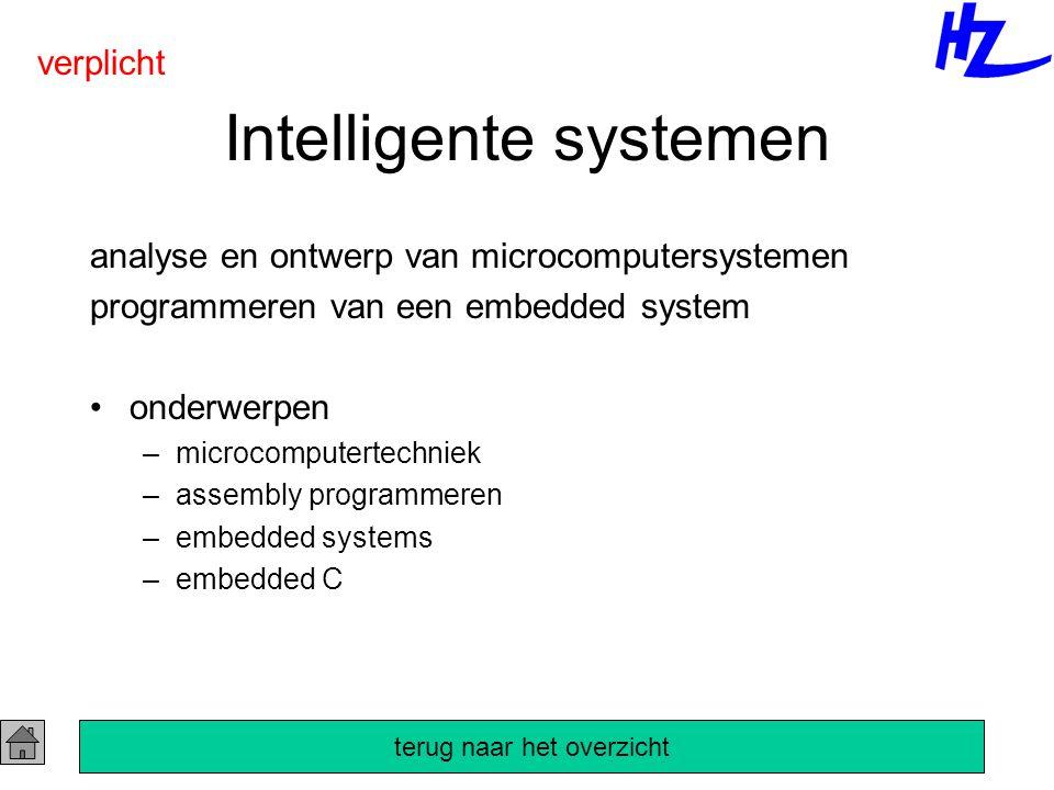 Intelligente systemen analyse en ontwerp van microcomputersystemen programmeren van een embedded system onderwerpen –microcomputertechniek –assembly p