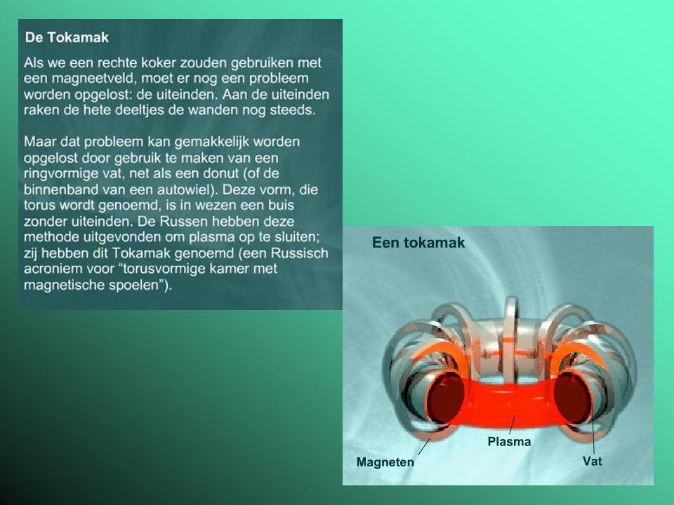 De kernfusiereactor en zijn brandstoffen Kernfusiereactie Brandstoffen 'as' van de reactie