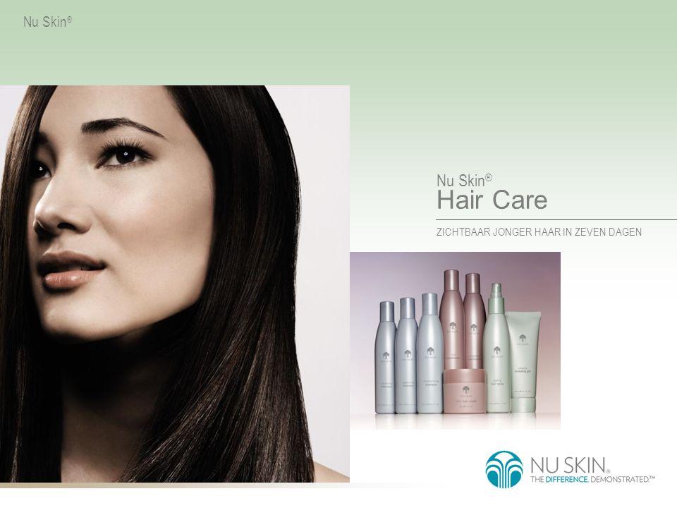 Nu Skin ® Hair Care ZICHTBAAR JONGER HAAR IN ZEVEN DAGEN Nu Skin ® Wie beweert dat je niet alles kunt hebben.