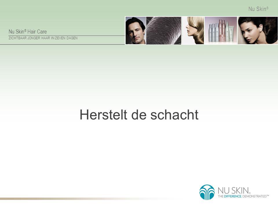 Nu Skin ® Hair Care ZICHTBAAR JONGER HAAR IN ZEVEN DAGEN Nu Skin ® Herstelt de schacht