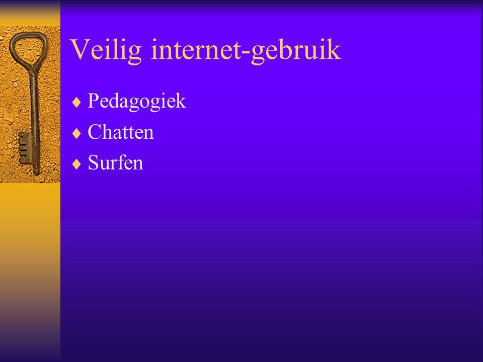 Veilig internet-gebruik  Pedagogiek  Chatten  Surfen