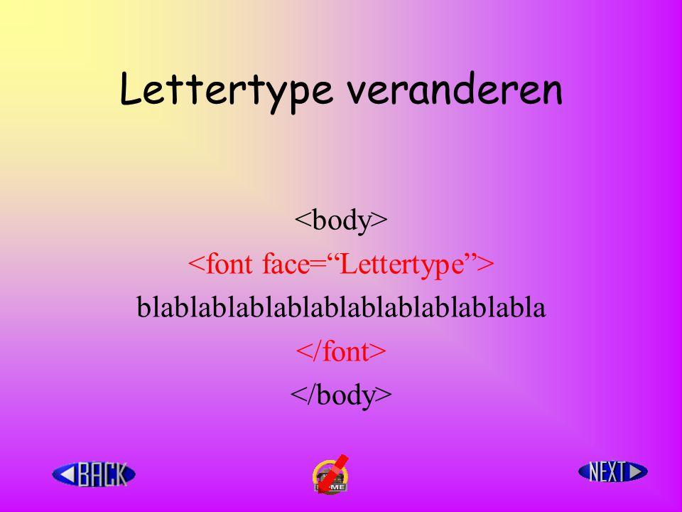 Lettertype veranderen blablablablablablablablablablabla