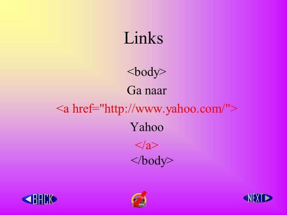 Links Ga naar Yahoo