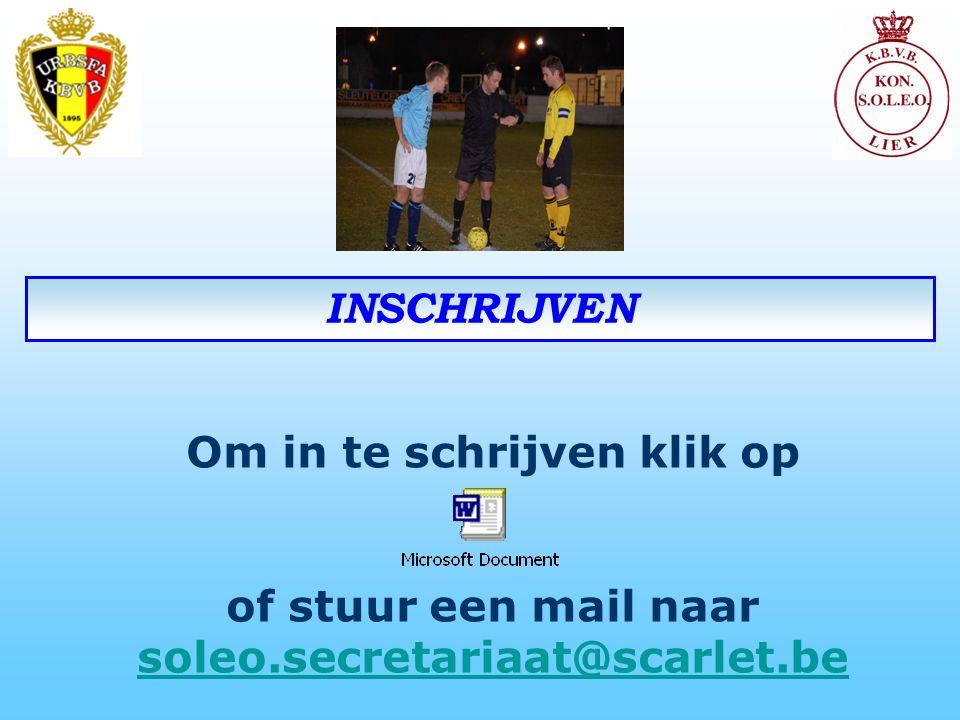 Om in te schrijven klik op of stuur een mail naar soleo.secretariaat@scarlet.be soleo.secretariaat@scarlet.be INSCHRIJVEN
