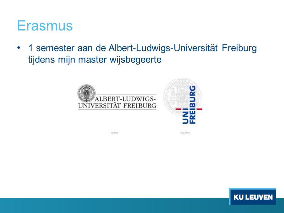 Erasmus 1 semester aan de Albert-Ludwigs-Universität Freiburg tijdens mijn master wijsbegeerte