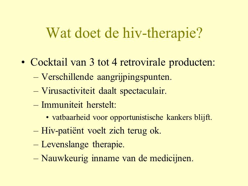 Wat doet de hiv-therapie.