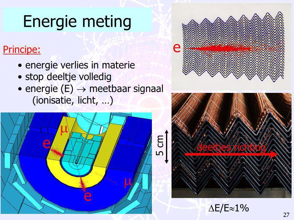 26 Voorbeelden detectie materialen  ionisatie gas gevulde detectoren (b.v.