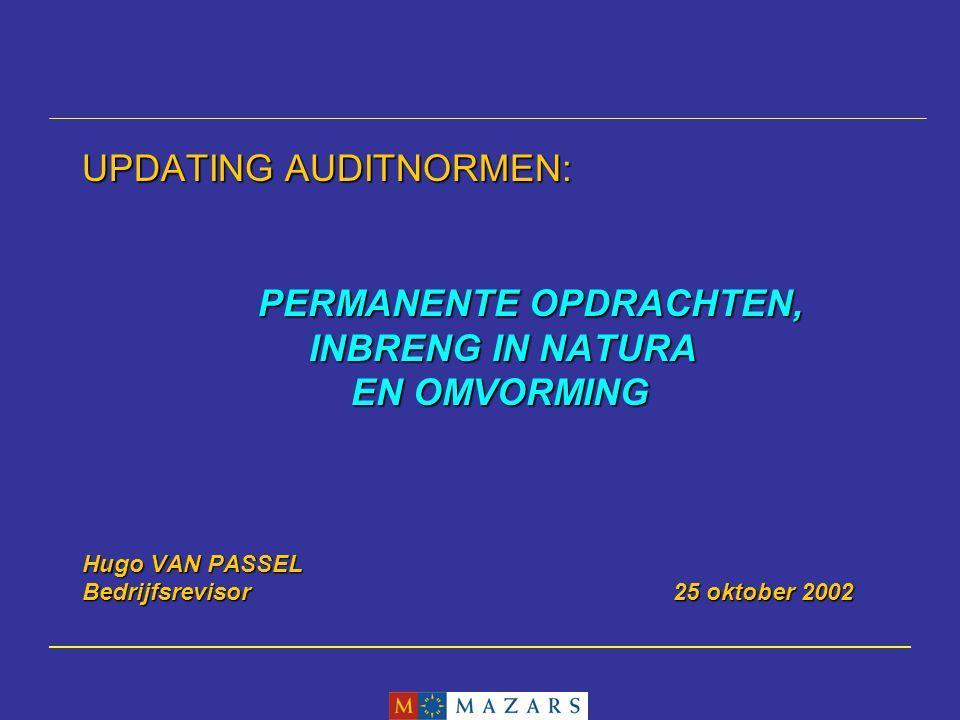 Hugo VAN PASSEL52 2.Zoals beschreven in deel 2 van deze aanbeveling biedt het Wetboek van vennootschappen de mogelijkheid dat een auditcomité of adviserende comités in de schoot van het bestuursorgaan worden opgericht.
