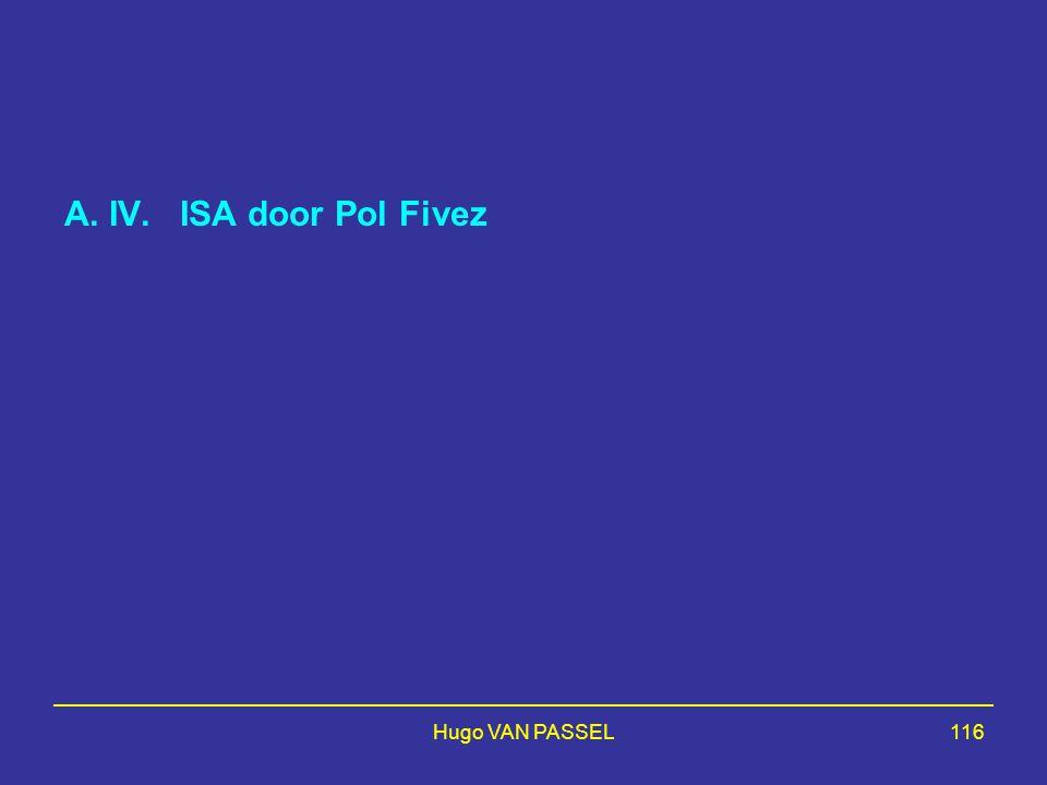 Hugo VAN PASSEL116 A. IV. ISA door Pol Fivez