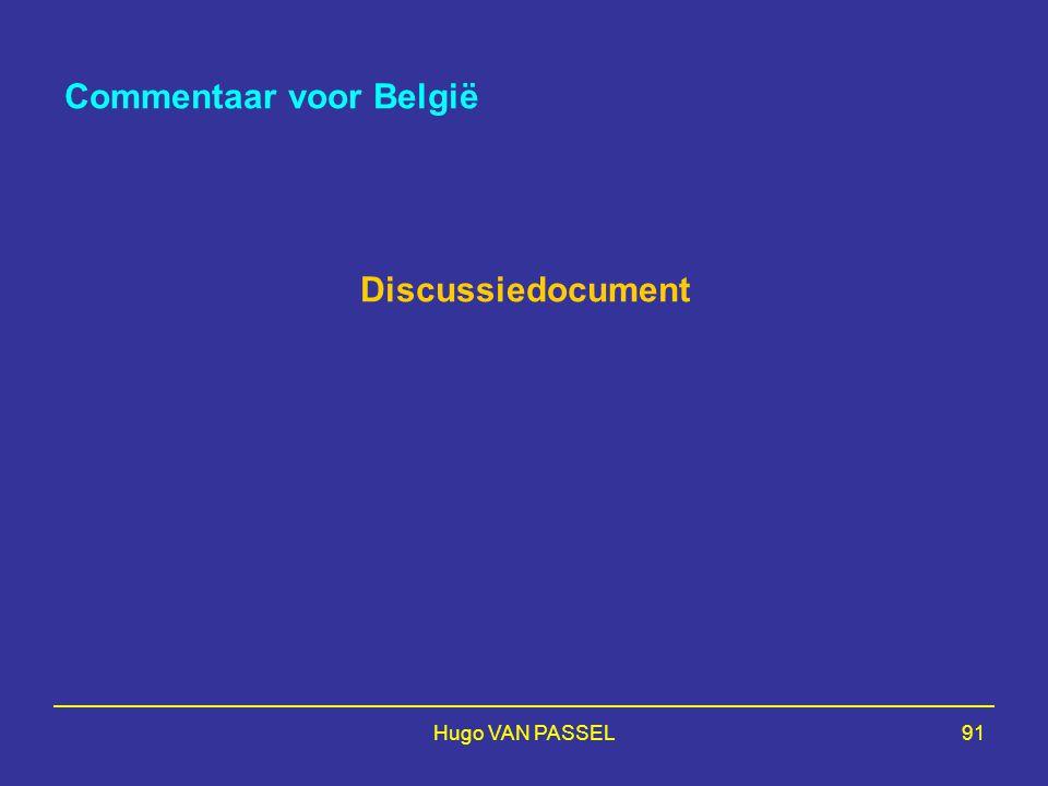 Hugo VAN PASSEL91 Commentaar voor België Discussiedocument